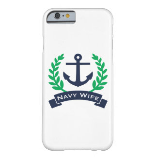 Navy Wife Anchor Barely There iPhone 6 Case