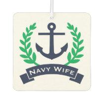 Navy Wife Anchor Car Air Freshener
