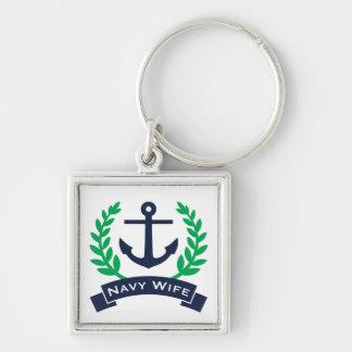 Navy Wife Anchor Keychain