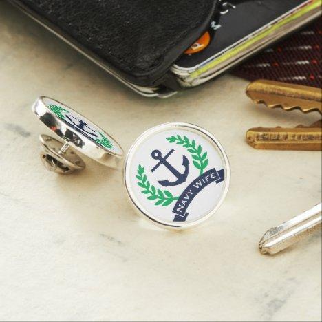 Navy Wife Anchor Lapel Pin