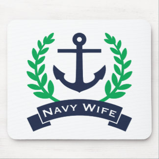 Navy Wife Anchor Mouse Pad