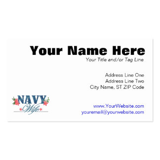 Navy Wife (Cammo) Double-Sided Standard Business Cards (Pack Of 100)