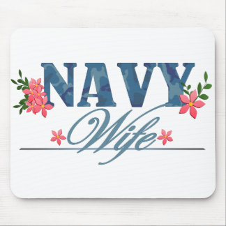 Navy Wife (Cammo) Mouse Pad