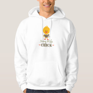 Navy Wife Chick Hooded Sweatshirt