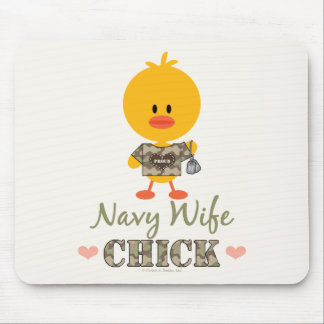 Navy Wife Chick Mousepad
