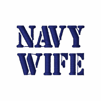 NAVY WIFE Embroidered Shirt