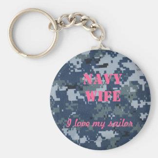 Navy Wife, I love my sailor Keychain