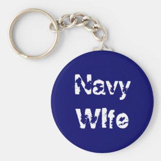 Navy Wife Key Chain