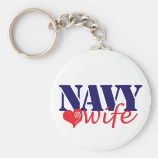 Navy Wife Keychain