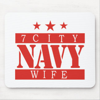 NAVY Wife - Red Mouse Pad