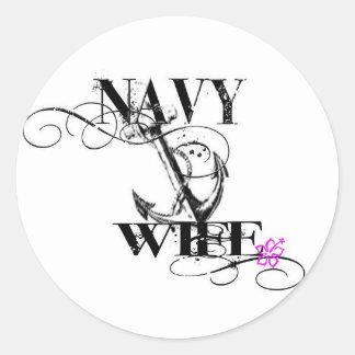 navy wife sticker