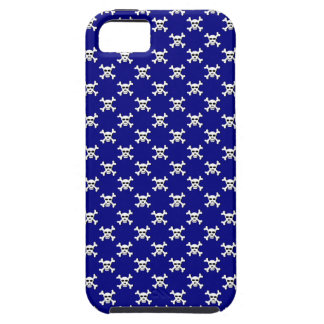 Navy with White Skull and Crossbones Polka Dot iPhone SE/5/5s Case