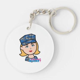 Navy Woman Keychain