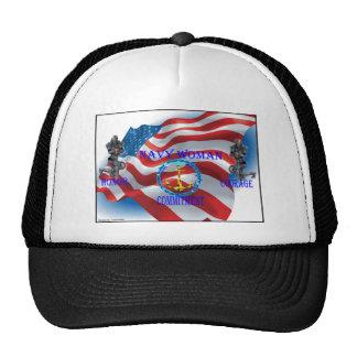 navy woman trucker hat