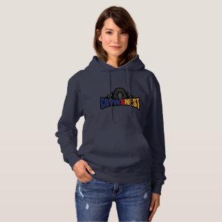 Navy Womens Hooded Sweat Hoodie