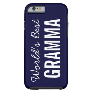 Navy World's Best Gramma Custom iPhone 6 Case