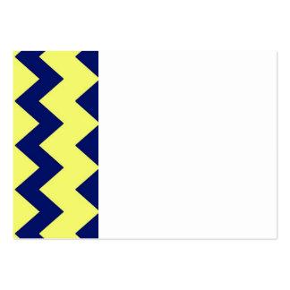 Navy Yellow Chevrons Business Card