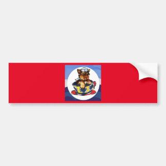 Navy Yorkie Poo Bumper Sticker