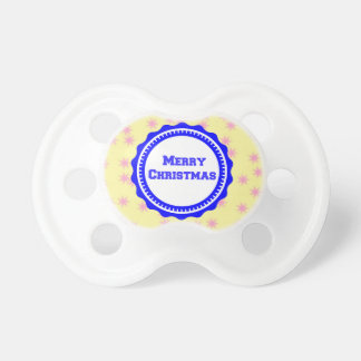 NavyBlue Baby's First Merry Christmas  Pacifier