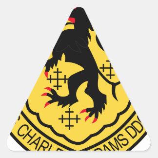 NavyChief.com DDG-2 USS Charles F Adams Military P Triangle Sticker