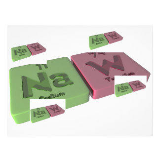 Naw as Na Sodium and W Tungsten Letterhead Design