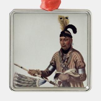 Naw-Kaw or 'Wood', a Winnebago Chief Metal Ornament