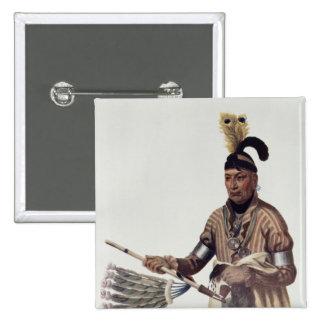 Naw-Kaw or 'Wood', a Winnebago Chief Pinback Button