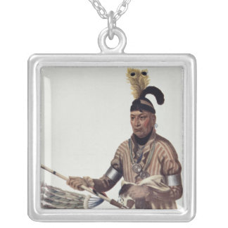 Naw-Kaw or 'Wood', a Winnebago Chief Silver Plated Necklace