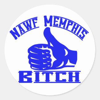 Nawf (North) Memphis B**** Round Stickers