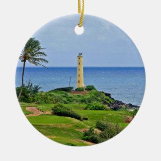 Nawillwili Lighthouse Ceramic Ornament