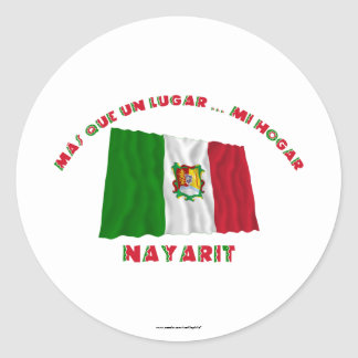 Nayarit - Más Que un Lugar ... Mi Hogar Classic Round Sticker