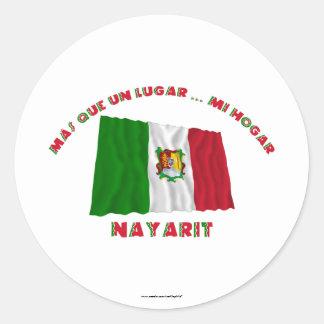 Nayarit - Más Que un Lugar ... Mi Hogar Round Stickers