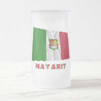 Nayarit Waving Unofficial Flag 16 Oz Frosted Glass Beer Mug