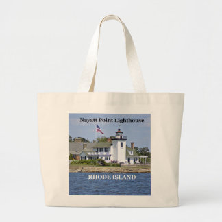 Nayatt Point Lighthouse, Rhode Island Tote Bag