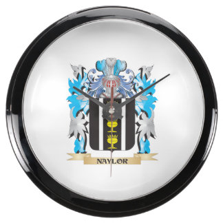 Naylor Coat of Arms - Family Crest Fish Tank Clock
