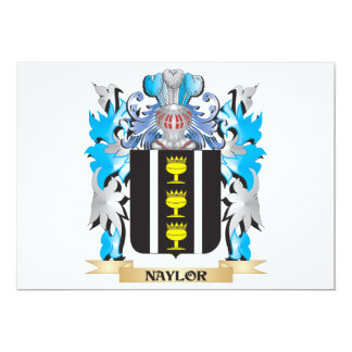 """Naylor Coat of Arms - Family Crest 5"""" X 7"""" Invitation Card"""