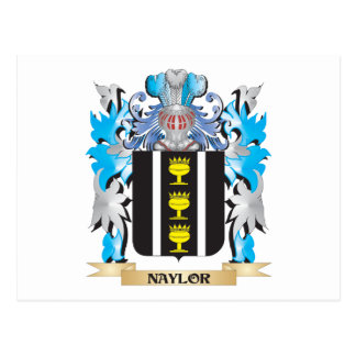 Naylor Coat of Arms - Family Crest Postcard