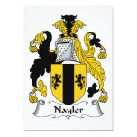 Naylor Family Crest 5x7 Paper Invitation Card