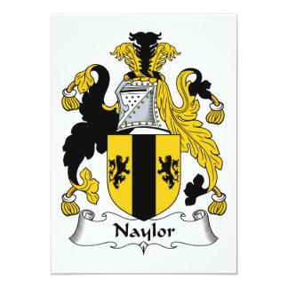 "Naylor Family Crest 5"" X 7"" Invitation Card"