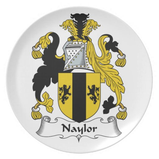 Naylor Family Crest Plate