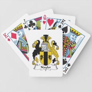 Naylor Family Crest Poker Cards