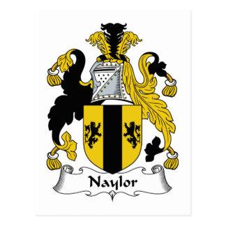 Naylor Family Crest Postcard