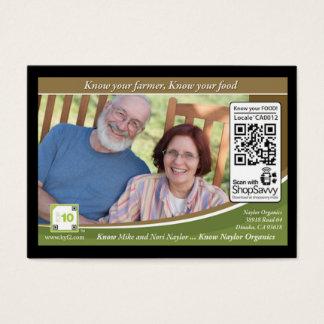 Naylor Organics Traceable Shelftalker Business Card