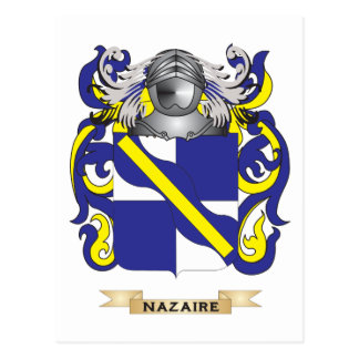 Nazaire Coat of Arms (Family Crest) Postcard