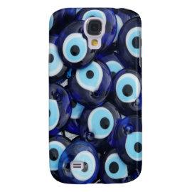 Nazar Amulets Evil Eye Stones Blue Pattern Samsung Galaxy S4 Cover