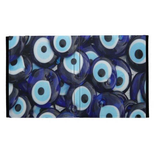 Nazar Amulets Evil Eye Stones Blue Pattern Ipad Folio
