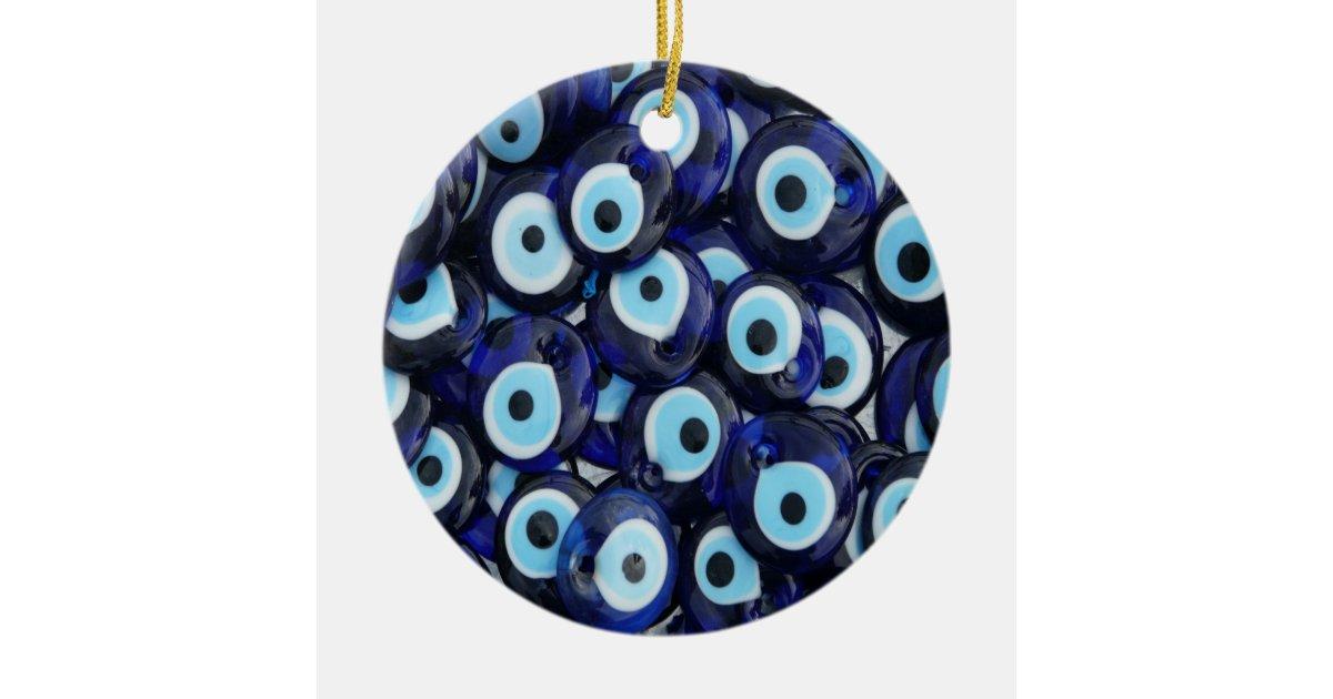 Nazar Amulets Evil Eye Stones Blue Pattern Ceramic