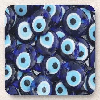 Nazar Amulets Evil Eye Stones Blue Pattern Coaster