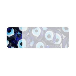 Nazar Amulets Evil Eye Stones Blue Pattern Label
