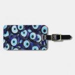Nazar Amulets Evil Eye Stones Blue Pattern Travel Bag Tags